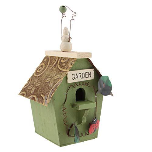 F Fityle Vinatge Nisthöhle Vogelnistkasten Vogelhaus/Vogelhäuschen für Kleinvögel Rotschwänzchen/Rotschwanz, super Villa für Kleinsingvögel - B#