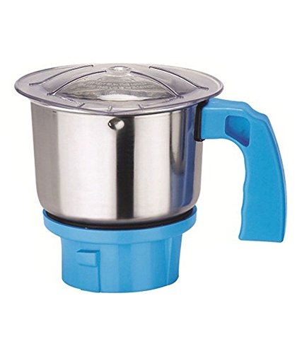 HATIMI'S Stainless Steel Attachment Grinding, Spices, Dals, Roasted Coffee Beans Chutney Mixer for Bajaj, Butterfly, Prestige, Sumit, Preethi, Maharaja , 650 ml, Silver