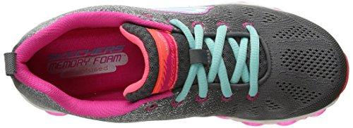 Skechers Kids Air Athletic Sneaker (Little Kid/Big Kid) Charcoal/Multi