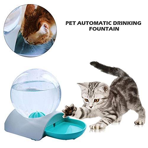 jaspenybow Haustier Katze Brunnen Katzen Brunnen Wasserspender Haustiere Automatischer Brunnen mit kugelförmiger Wasserflasche Pet Gravity Wasserspender