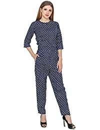 My Swag Women's Crepe Polka Dot Jumpsuit