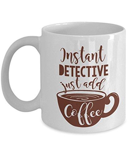 ffee & Tea Gift Mug for A Jr Police Spy & An Adult Retired Detective ()