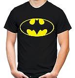 Batman Logo Männer und Herren T-Shirt | Spruch Retro Comic Geschenk (XXXL, Schwarz)