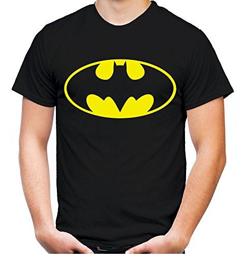 Batman Logo Männer und Herren T-Shirt | Spruch Retro Comic Geschenk (XL, Schwarz) (Plus Size Batman Kostüme)