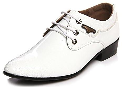 HYLM New Men's Business Chaussures Mode Prints Wedding Shoes Dress Banquet Oxford Shoes , 42