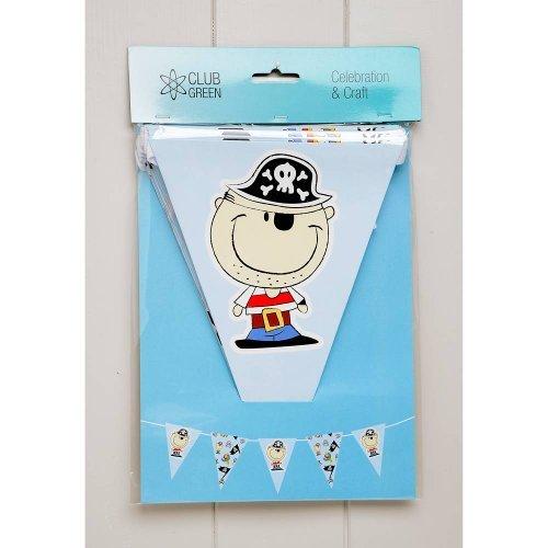 kinder Piraten Party Fahnentuch, 20 wimpel, 3 m. Perfekt für Kinder' geburtstagsfeiern (Club-wimpel)