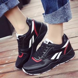 hexiajia 22.5cm-25ccm chaussure femme chausson à tige haute chaussure à lacet chaussure blanche noir rose Noir
