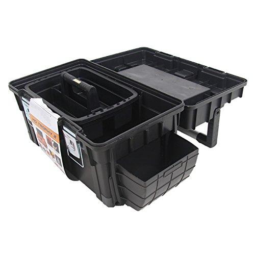 Kunststoff Werkzeugkoffer HD Box Trophy 2 Plus, 80×35,5cm Kasten Werzeugkiste Sortimentskasten Werkzeugkasten Anglerkoffer - 6