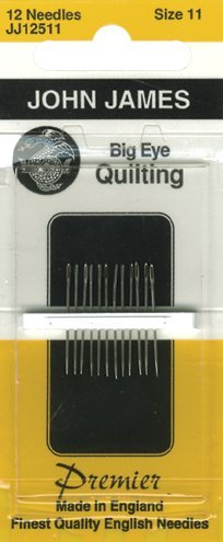 Big Eye Quilting Hand Needles-Size 11 12/Pkg by Colonial Needle -