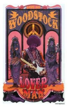 Jimi Hendrix: Woodstock-amante/US Import Poster