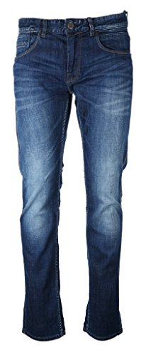 PME Legend Herren Jeans Nightflight Stretch Slub Denim dunkelblau - 36/32 5-pocket-slim Boot