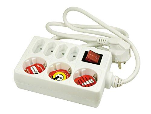 Regleta con Interruptor Arcas, protección para niños