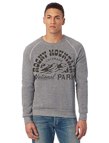 Alternative Bekleidung Herren Rocky Mountain National Park Champ Eco-Fleece Sweatshirt - grau - X-Groß -
