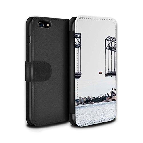 Stuff4 Coque/Etui/Housse Cuir PU Case/Cover pour Apple iPhone 7 / Travaux Routiers Design / Vers Bas Sous Collection Voyage Par La Route