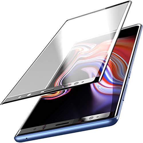 TOZO Samsung Galaxy Note 9 Panzerglas Schutzfolie [3D Full Frame] Premium Gehärtetem 9H Härte Super Einfach Gelten für Samsung Galaxy Note 9 [Schwarzer Rand]