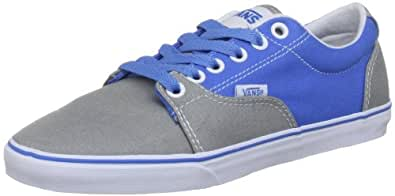 Vans Men's Kress Lace-Up Trainers, Grey/French Blue, 4 UK