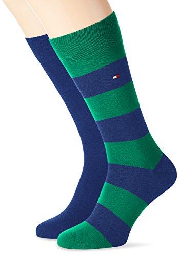 Tommy Hilfiger Men's Th Men Rugby Sock 2p  Calf Socks