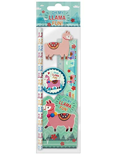 Skool Tools Kinder Neuheit Tier Briefpapier Set (Lama)