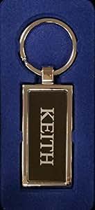 Keith Silber Metall Key Ring Graviert und in schöner Geschenkbox, von Sterling effectz