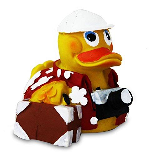 Preisvergleich Produktbild Badeente Fahr-in-Urlaub-Ente Gummiente Mitgebsel Kindergeburtstag - 8 cm