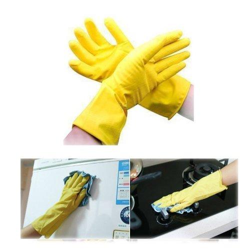 Generic Gants de ménage en caoutchouc pour nettoyage(Yellow)