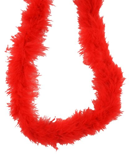 Red Marabou Feather Boa 72