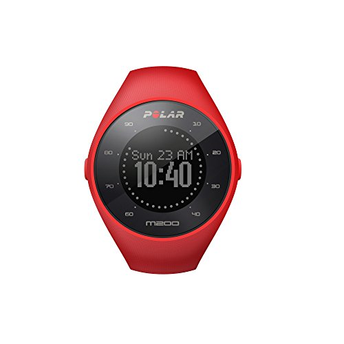 polar-unisex-m200-gps-running-watch-with-wrist-based-heart-rate-bright-red-medium-large