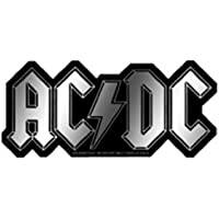 AC/DC Logo Chrome STICKER ADESIVO, Officially Licensed