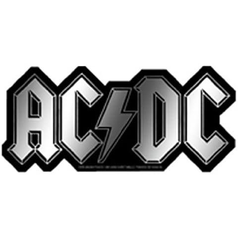 AC/DC Logo Chrome cromo STICKER,ETIQUETA Officially Oficialmente Licensed Autorizado Products Classic Rock Artwork,ilustraciones 2.5