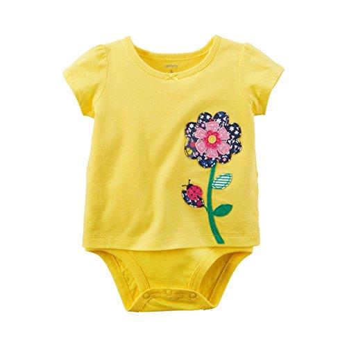 CARTER´S Shirt-Body kurzarm Blume gelb 68 (Carters-bodys Mädchen)