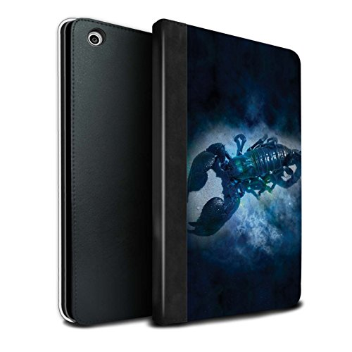 STUFF4 PU Pelle Custodia/Cover/Caso Libro per Apple iPad Mini 1/2/3 tablet / Scorpione/Scorpio / Zodiaco Stella Segno disegno