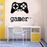 Fushoulu 42X47Cm Etiqueta De La Pared Etiqueta Engomada Del Vinilo Tiempo De Juego Xbox 360 Ps3 Controller Gamer