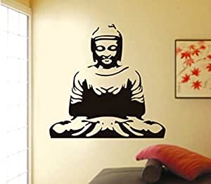 ... Decals Design U0027Meditating Buddhau0027 Wall Sticker (PVC Vinyl, 50 Cm X 70  Cm, Black)