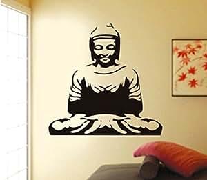 Merveilleux ... Decals Design U0027Meditating Buddhau0027 Wall Sticker (PVC Vinyl, 50 Cm X 70  Cm, Black)