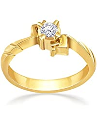 Malabar Gold And Diamonds 22KT Yellow Gold And Diamond Ring For Women