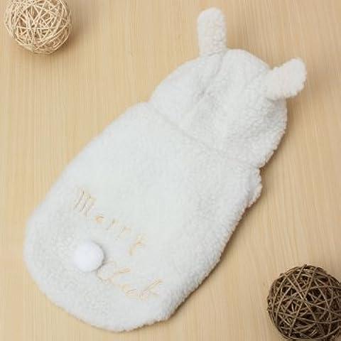 Bheema Perro de mascota oveja ropa ropa de invierno cálido abrigo suave chaqueta