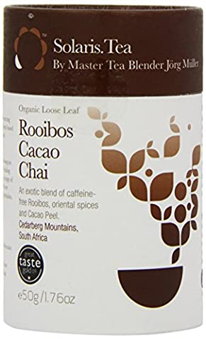 Solaris Tea Organic Loose Whole Leaf Rooibos Cacao Chai 50 g