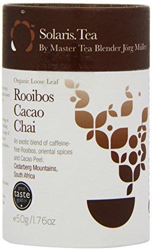 Solaris Tea Organic Loose Whole Leaf Rooibos Cacao Chai 50 g