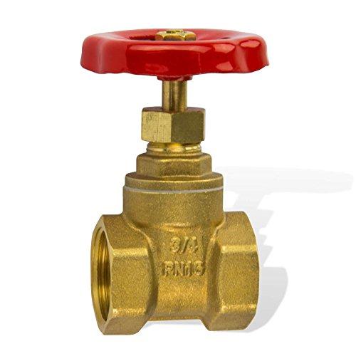 Stabilo-Sanitaer Muffenschieber 1 Zoll DN25 mit Metallhandrad für Wasser Messing Schieber Heizungsschieber Absperrschieber
