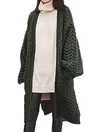 5763afadcdeecc EVERY Mode Damen Loose Causual Pullover Knitting Langarm-Cardigan Lässige  Strickmantel Strick Strickjacke Outwear Lange