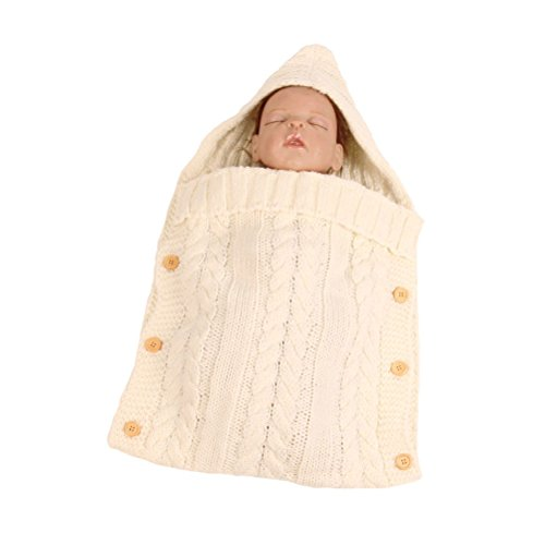 LUOEM Baby Wrap Swaddle Blanket Neugeborenes Baby Kleinkind Häkeldecke Decke Swaddle Schlafsack Schlafsack Kinderwagen Wrap Fotografie Requisiten
