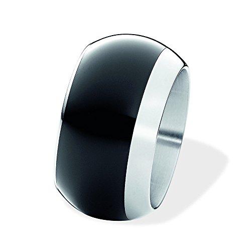 XEN Bandring gewölbt mit Keramik schwarz 13 mm 68 (21.6)