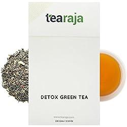 TeaRaja Detox Green Tea 100 Gm-45 Cups|Healthy & Detoxifying|Slimming Tea|Healthy Slim Tea