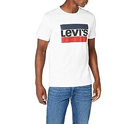 Levi's Sportswear Logo Graphic, T-Shirt Homme, Blanc (84 Sportswear Logo White 0000), Medium