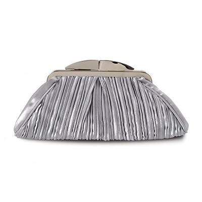 Lunar ZLV132 Grey / Silver Satin Handbag