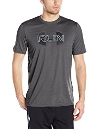 Under Armour Run Overlap logo Men's Round Neck T-Shirt