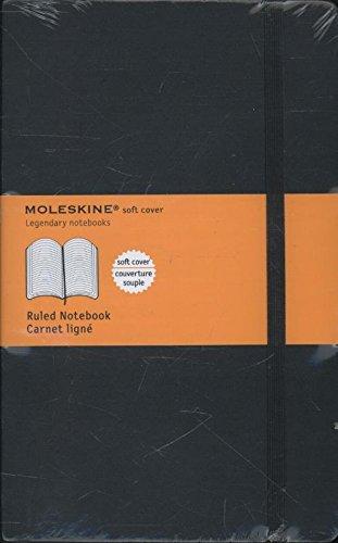 Moleskine Carnet ligne Grand format Couverture souple noire 13 x 21 cm