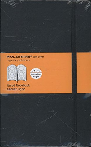 Moleskine Taccuino Notebook, Large, Copertina Morbida, a Righe, Nero