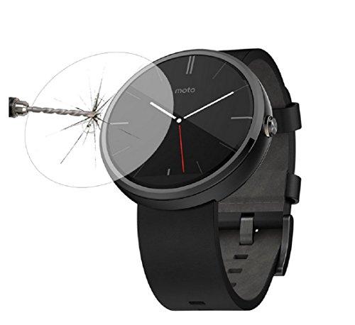 Dingtool Ersatz Smartwatch Displayschutzglas Panzerfolie für Motorola Moto 360 - Screen Protector aus Glas - kratzfest und extrem widerstandsfahig -2.5D Round Edge, nur 0.3mm (Moto 360) (Moto-screen-ersatz)