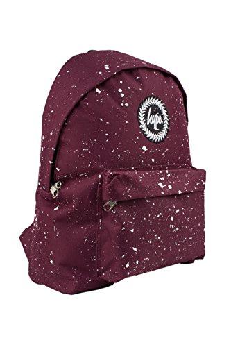Hype Rucksack Tasche - Verscheidene Farben Burgunderrot / Weiß